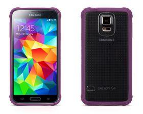 Griffin Survivor Samsung Galaxy S5 Hard Case - Purple & Clear
