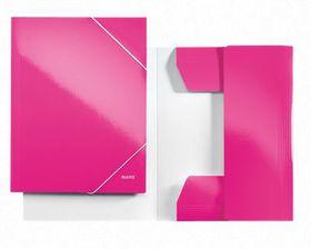 Leitz WOW 3 Flap Folder A4 - Pink