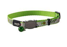 Rogz - Catz ReflectoCat Extra-Small Reflective Safeloc Breakaway Cat Collar - Lime