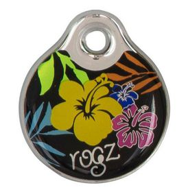 Rogz ID Tagz Large Self-Customisable Instant Resin Tag - Floral