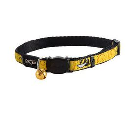 Rogz - Catz FancyCat Safeloc Breakaway Cat Collar - Yellow