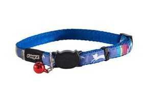 Rogz Catz NeoCat Safeloc Breakaway Cat Collar - Blue
