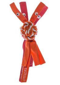 Rogz Cowboyz Small Dog Knot Chew Toy- Orange