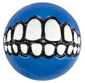 Rogz Grinz Large Dog Treat Ball - Blue