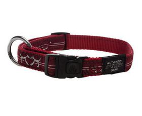 Rogz - Fancy Dress Large Beach Bum Dog Collar - Red