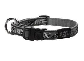 Fancy Dress Extra Large Armed Response Dog Collar - Silver