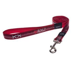 Rogz - Fancy Dress Extra Extra-Large Special Agent Fixed Dog Lead - Red