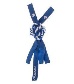 Rogz Cowboyz Medium Dog Knot Chew Toy - Blue