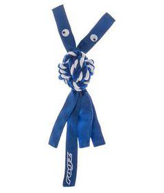 Rogz - Cowboyz Large Dog Knot Chew Toy - Blue