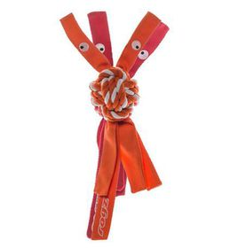 Rogz - Cowboyz Large Dog Knot Chew Toy - Orange