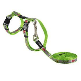 Rogz - Catz ReflectoCat Extra-Small Reflective Cat H-Harness & Lead Combination - Lime