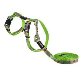 Rogz - Catz ReflectoCat Small Reflective Cat H-Harness & Lead Combination - Lime