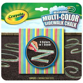 Crayola Multicolour Sidewalk Chalk - 5ct