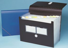 Bantex Expanding File 6 Partitions - Black