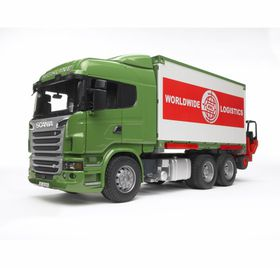 Bruder SCANIA R-Series Truck with Container & Forklift