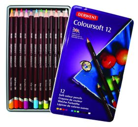 Derwent Coloursoft Pencils - Tin of 12