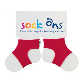 Sock Ons - Bright Red Baby Socks - (Size: 6 - 12 months)