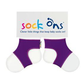 Sock Ons - Bright Purple Baby Socks - (Size: 6 - 12 months)