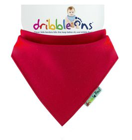 Dribble Ons - Bright Baby Bib - Red