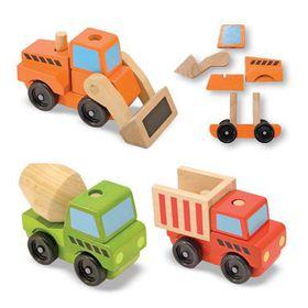 Melissa & Doug Stacking Construction Vehicles