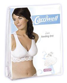 Carriwell - White Lace Feeding Bra - White - Size - X- Large