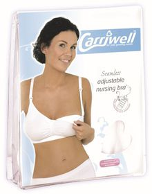 Carriwell - White Seamless Adjustable Drop Cup Bra - Extra Large