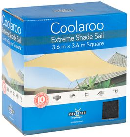 Coolaroo - Extreme Shade Sail Square - Charcoal