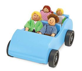 Melissa & Doug Wooden Car & Poseable Passengers