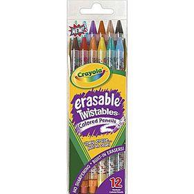 Crayola Back To School 12 Erasable Twistable Pencil