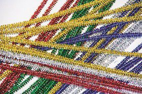 Dala Pipe Cleaners - Metallic Assorted Colours   (15 Pieces)