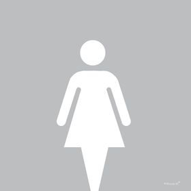Tower Aluminium Die Cut Modern 1 Sign - Ladies Toilet