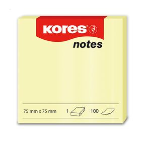 Kores Yellow Notes - 75x75mm (100 Sheets)