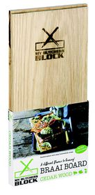 My Butchers Block 2 Pack Braai Board - Cedar
