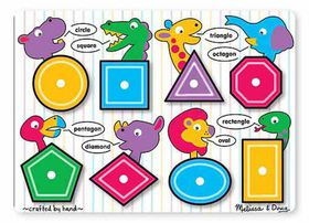 Melissa & Doug Shapes Peg Puzzle - 8 Pieces