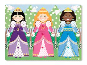 Melissa & Doug Dress-Up Princesses Peg Puzzle - 9 Pieces