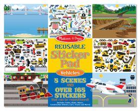 Melissa & Doug Vehicle Reusable Sticker Pad