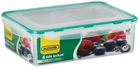 Addis Rectangle 4 Sided Clip Lock Saver with Divisions - 2.8 Litre