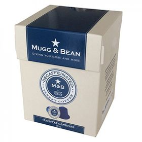 Mugg & Bean Decaffeinated Coffee Capsules