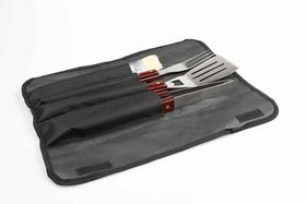 OZtrail - 4 Piece BBQ Set In Roll-Up Bag