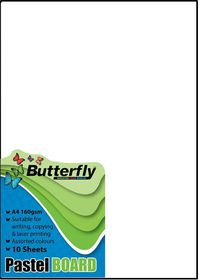 Butterfly A4 Pastel Board 10s - White