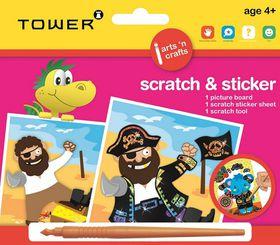 Tower Kids Scratch & Sticker - Pirate