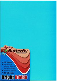 Butterfly A4 Bright Board - 10s - Blue