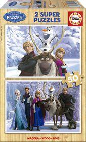 Educa Frozen Wooden Puzzle - 2 x 50 Piece