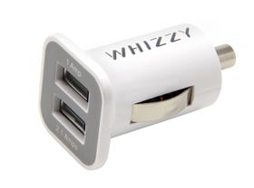 Whizzy Double USB Car Charger - White