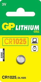 GP Batteries 3V CR1025 Lithium Coin Battery