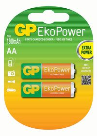 GP Batteries 1.2V AA 1050 mAh Rechargeable Eko Power Batteries
