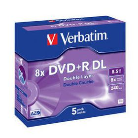 Verbatim - 43541 8X DVD+R Double Layer 8.5GB - 5 Pack