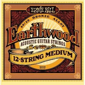 Ernie Ball 2012 Earthwood 12-String Medium 80/20 Bronze Acoustic String Set (11 - 52)