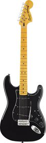 Squier by Fender Vintage Modified 70s Stratocaster Electric Guitar Maple Fretboard - Black