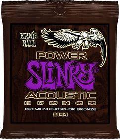 Ernie Ball 2144 Power Slinky Acoustic Phosphor Bronze String Set (13 - 56)